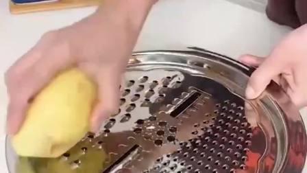 有了这个不锈钢刨丝盆,拉丝切片一下搞定