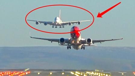 实拍飞机起飞降落过程!难得一见的场面,有点害怕坐飞机了