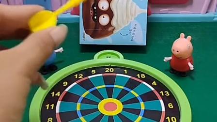 佩奇和乔治比试,乔治太调皮了,他能赢得比试吗?