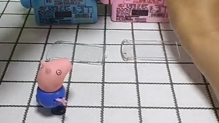 佩奇和乔治藏起来了,他们两个太淘气了,猪妈妈都发现他们了