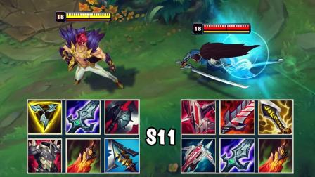 LOL:神装腕豪VS神装亚索,哪个英雄更强?