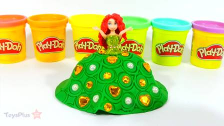 儿童亲子互动,迪斯尼公主玩偶的选美礼服DIY,太棒了