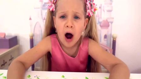 国外少儿时尚:小女孩品尝各种口味冰淇淋,来看看吧