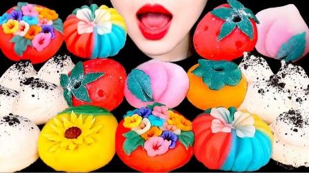 去日本旅游必带的小甜点和果子,纯手工制作,像极了艺术品