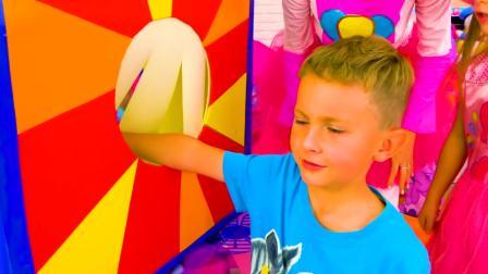 儿童亲子互动,萨沙和斯拉瓦玩玩具屋帐篷,真的太棒了