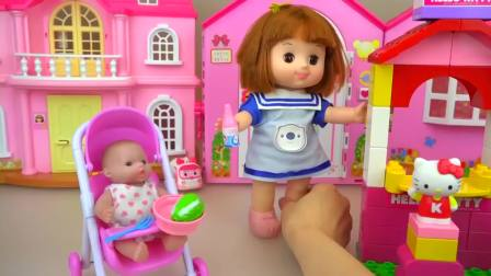 儿童亲子互动,娃娃厨房与卡车食品烹饪玩具,真可爱啊