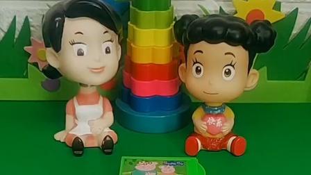 围裙妈妈给棉花糖买了玩具,让她打开看看,结果棉花糖打开里面什么都没有