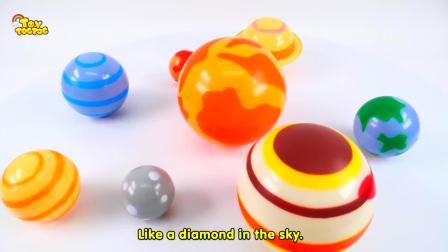 儿童亲子互动,学习颜色彩虹动力沙乐高双层床,太好玩了