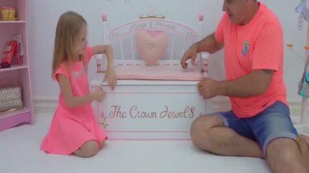 美国时尚儿童,小萝莉和宝爸一起玩,真开心