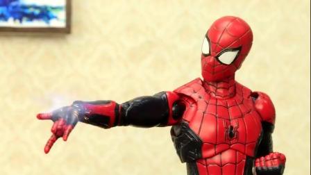蜘蛛侠玩具动画:蜘蛛侠 一把手枪单挑丧尸大军