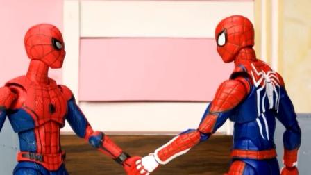 蜘蛛侠玩具动画:蜘蛛侠一脚就解决了坏蛋,太帅了