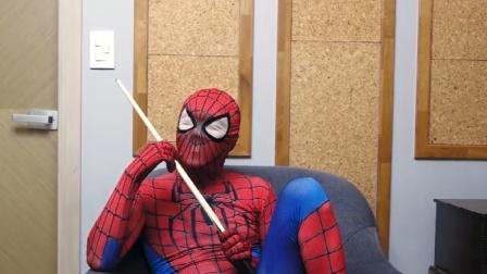蜘蛛侠真人:緑巨人桌球比赛开挂了,完胜蜘蛛侠