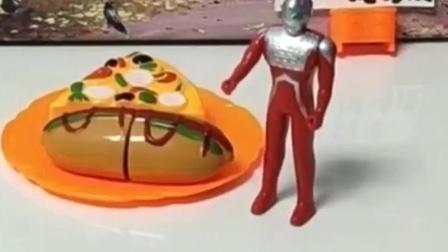 搞笑玩具:据说奥特曼卖的食物吃了会飞天?