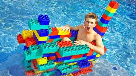 """用""""乐高""""打造的小船,下水之后会怎样?结果尴尬了!"""