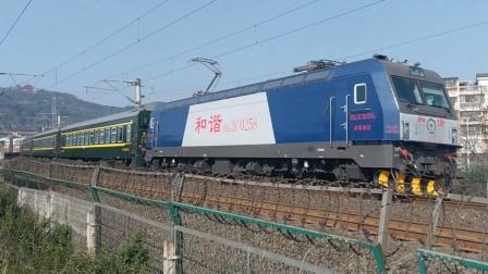 (列尾附挂轨检)HXD3C0258武局襄段K1158成都-上海以101km/h的速度通过常青路11:07