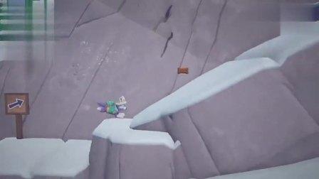 游戏汪汪队出发救援_珠珠困在雪山迷路,飞跃山谷寻找下山的路