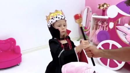 萌宝互动,角色扮演游戏,斯泰西和国王互相扮演国王