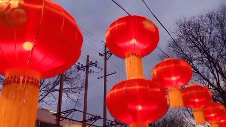 沁县2021年春节夜景