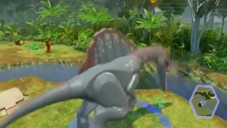 埃及棘龙开始狩猎 乐高城市恐龙世界