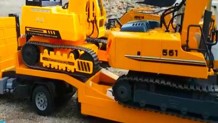 宝宝霸气工程车玩具展示,宝宝挖掘机,大拖车,运输车等