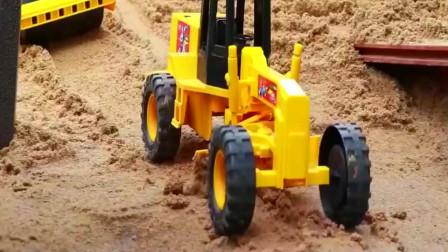宝宝铲车玩具视频,自卸卡车,宝宝挖掘机,工程车认知 汽车!