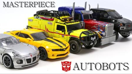 变形金刚杰作汽车人擎天柱大黄蜂爵士棘轮铁皮车辆机器人玩具.