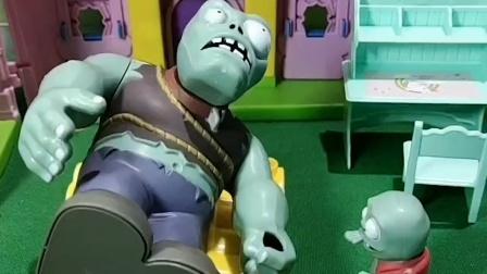 小鬼要考试,叫巨人僵尸起床,可就是叫不醒