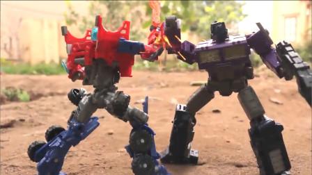 变形金刚玩具,博派首领擎天柱兄弟反目,他们展开激烈对峙