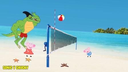 动画:海滩趣事,鳄鱼四处使坏惨遭小伙伴们围殴!