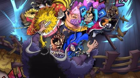 海贼王同人动画,九侠和路飞对战凯多,和之国额巅峰战役
