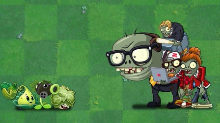 植物大战僵尸:戴眼镜的小僵尸