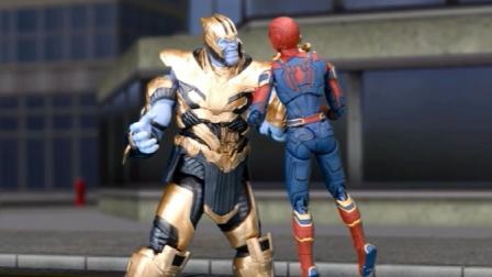 蜘蛛侠玩具动画:哥斯拉VS灭霸,谁会赢