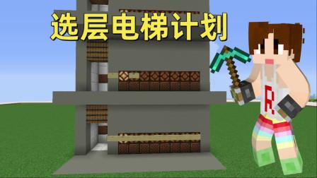 我的世界完美选层电梯计划#01设计蓝图