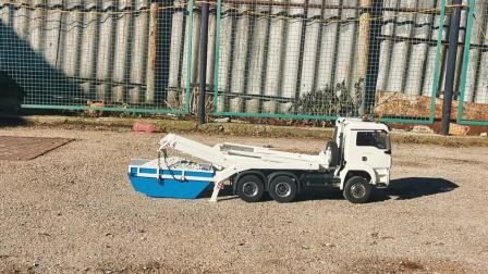 自卸大卡车装卸石子真好玩,儿童仿真自卸车玩具