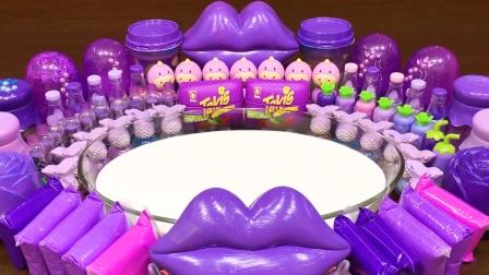 太惊艳了!一桌子梦幻紫色材料混泥,无硼砂