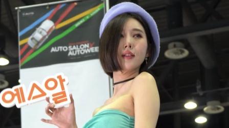 首尔车展,美女车模