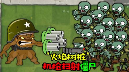阿涵说:火焰树桩掏出机关枪对僵尸群疯狂攻击!这是啥情况啊