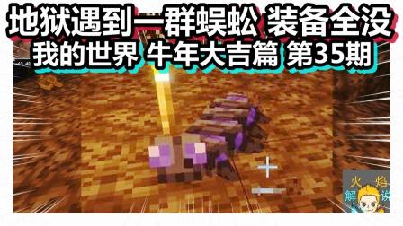 我的世界 牛年大吉篇 第35期 地狱遇到一群蜈蚣 装备全没