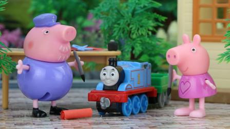 过年啦,托马斯小火车给大家送春联啦