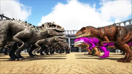 侏罗纪棘背龙和南巨围攻暴虐龙,能成功吗