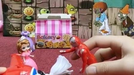 搞笑玩具:暖心的奥特曼把公主送去医院