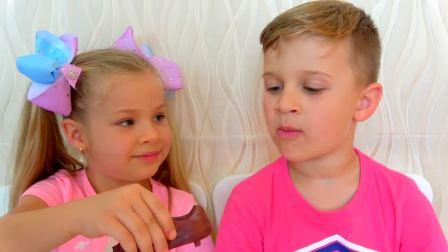 开心亲子,戴安娜和孩子们关于糖果的故事,真有趣啊
