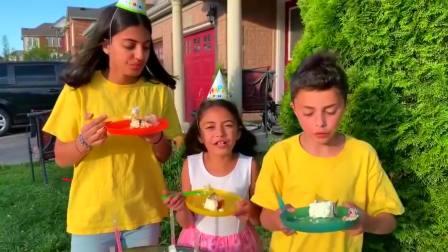 开心亲子,哥哥过生日,姐姐给哥哥准备生日惊喜真厉害啊