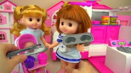 儿童亲子互动,宝宝厨房和惊喜蛋玩具,真可爱啊