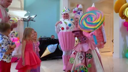 美国时尚儿童,小萝莉有好多礼物,来看看吧