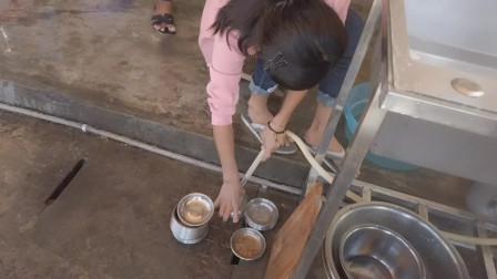 一千三百块一个月请来的缅甸小妹,一天洗到晚,大家觉得划算吗