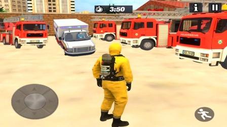 【永哥玩游戏】救护车消防车城市联合救援伤者 救护员模拟救援