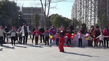 拉丁串烧单人舞《我爱你中国》向阳院2021年公益快闪