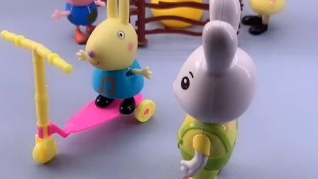 兔小姐要回家拿奶瓶,让乔治帮忙看理查德,结果乔治把他送人了