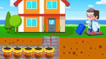 木鱼偷偷搬新家,不料被小铃铛发现,直接炸飞!